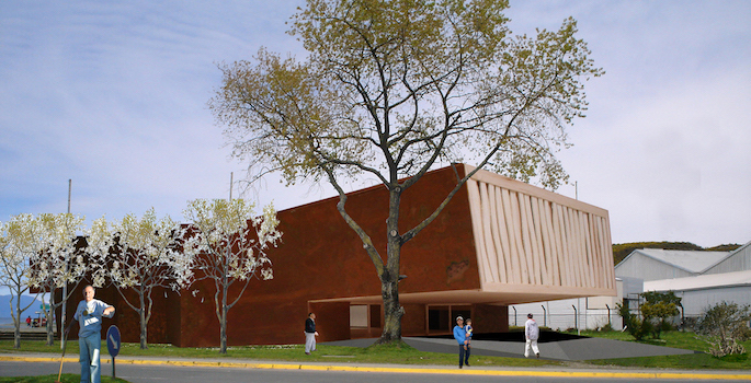 Architect's rendering of the Museo Monte Verde, to be built in Puerto Montt, Chile.