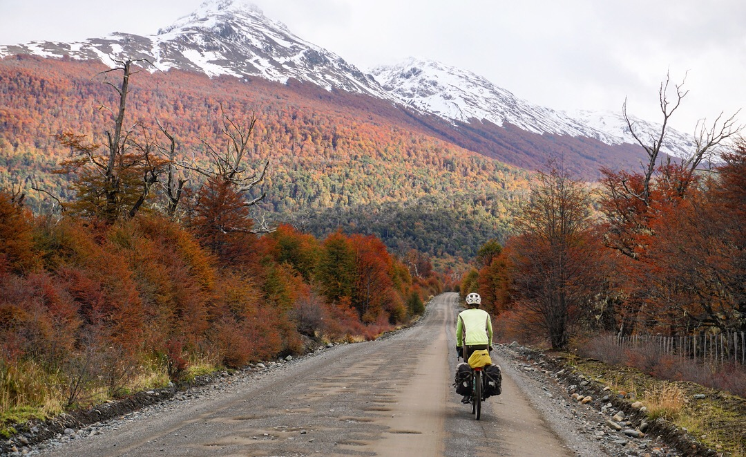 Biking along the Carretera Austral. Photo: The Spoken Tour
