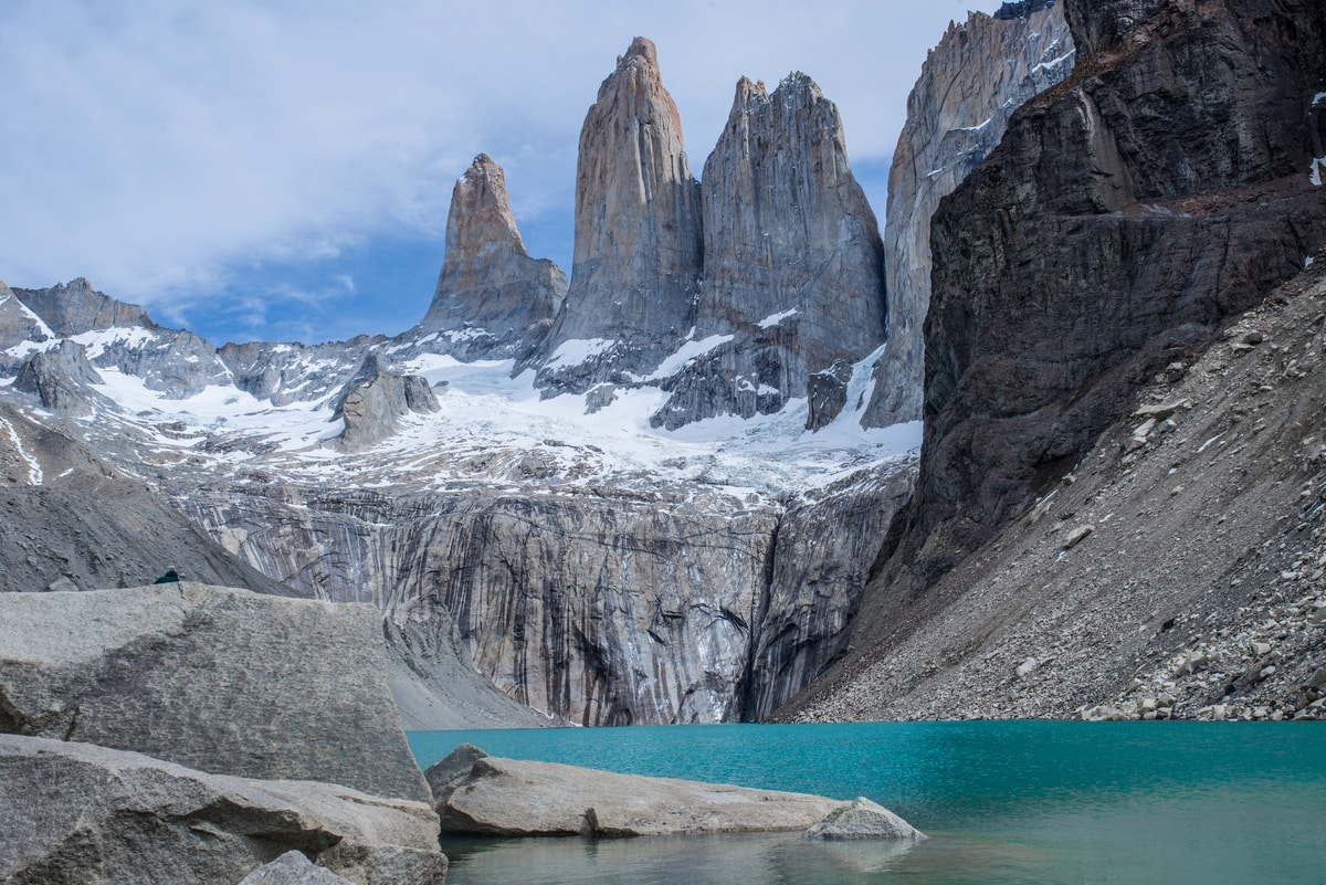 Base of the Torres. Photo: Torres del Paine Legacy Fund