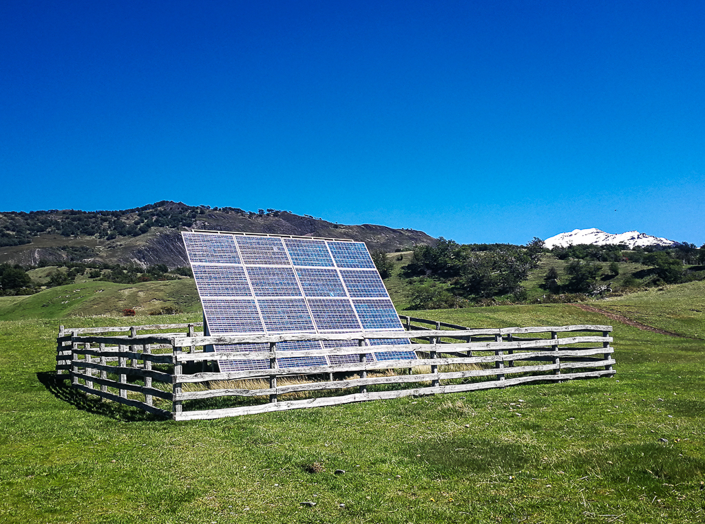 Solar panels at Estancia La Peninsula.