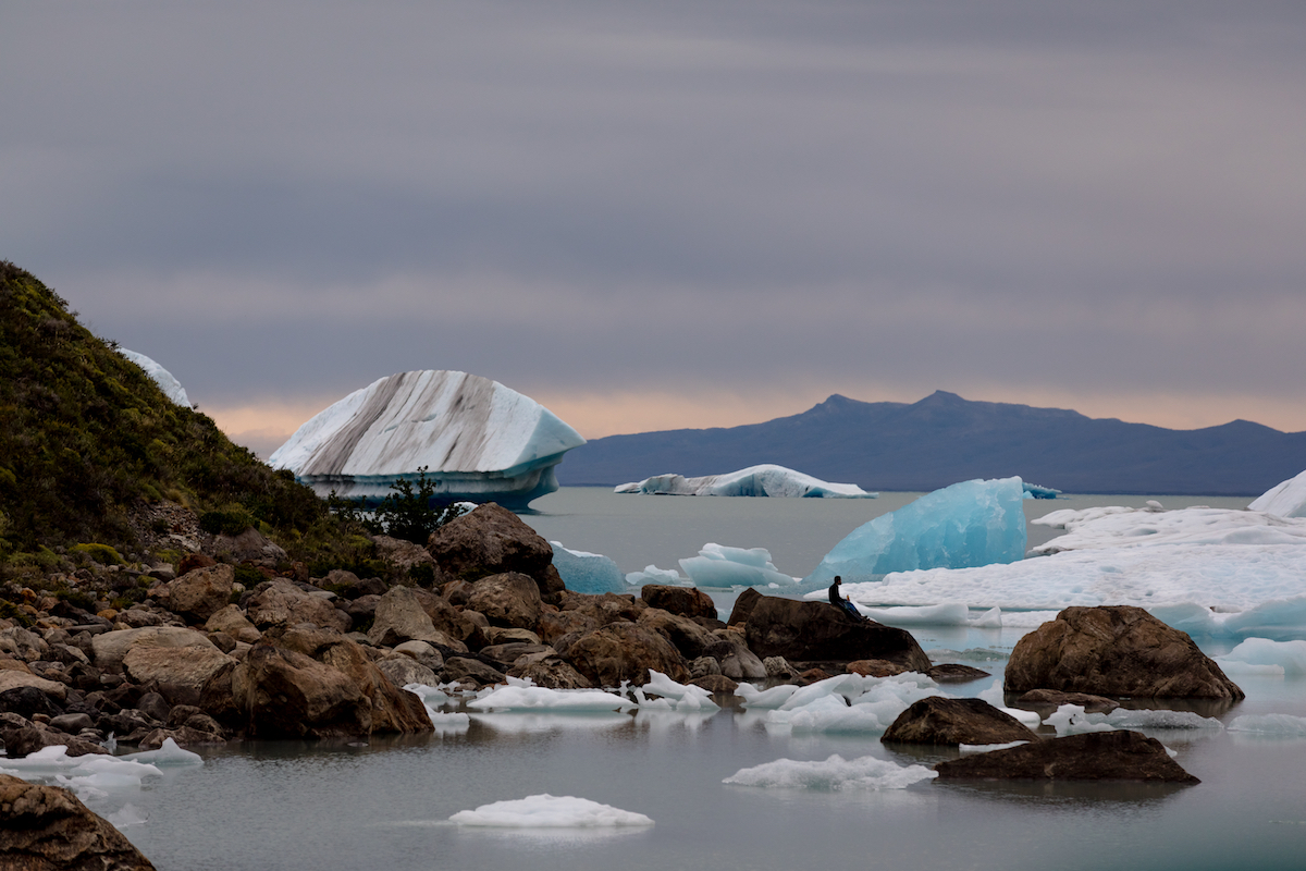 Lake Viedma and icebergs from Glacier Viedma. Photo: Stephanie Stefanski