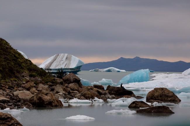 Lago Viedma y témpanos de hielo del glaciar Viedma. Foto: Stephanie Stefanski