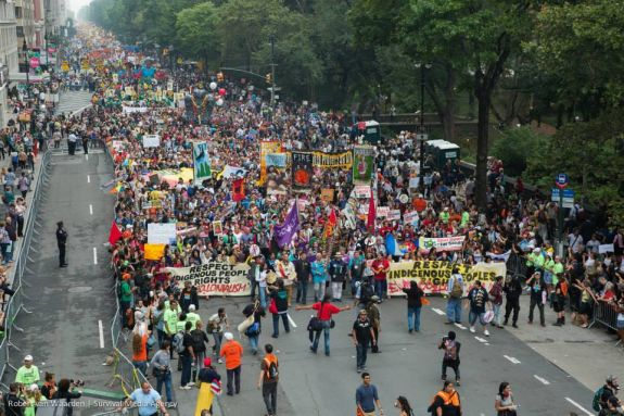 People's Climate march in New York City, Sept. 21, 2014
