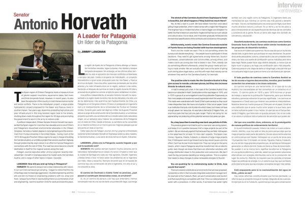 Entrevista: Senador Antonio Horvath, Un lider de la Patagonia, Edición 6