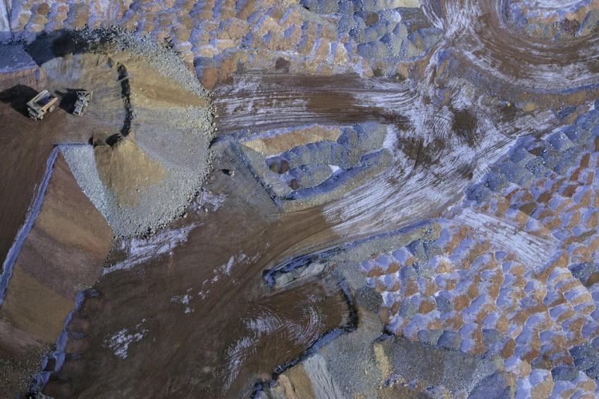 Roca residual de la industria minera, Nevada