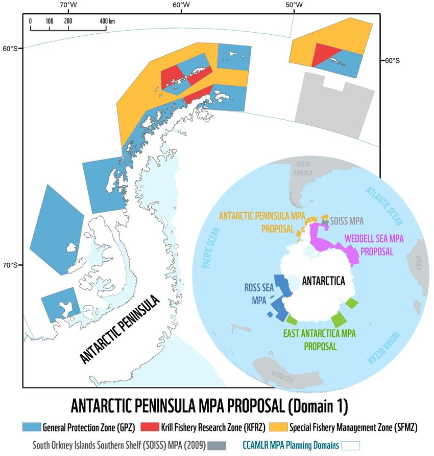 A new proposal for a marine protected area along the western Antarctic Peninsula by the Governments of Argentina and Chile (October 2018). Source: WWF